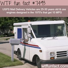 USPS vehicles are 30 years old - WTF FUN FACTS
