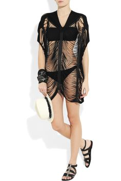 agent provocateur tahloola shred-effect tunic