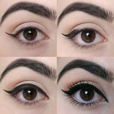 round eyes makeup Eyeliner is an essential to most of our favorite makeup looks,be it smokey or a soft makeup glam,eyeliner does fit Anime Eye Makeup, Doll Eye Makeup, Crazy Eye Makeup, Rainbow Eye Makeup, Hazel Eye Makeup, Korean Eye Makeup, Hooded Eye Makeup, Hooded Eyes, Anime Eyes