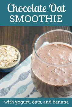 Chocolate Oat Smoothie - Slender Kitchen - 8PP and 8 SmartPoints