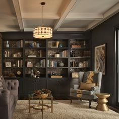 Home Office Design Home Library Rooms, Home Library Design, Home Libraries, Home Office Design, Home Office Decor, House Design, Home Decor, Office Ideas, Office Setup