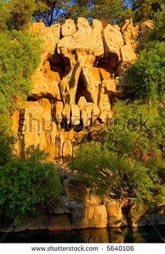 Skull Made From Rocks At Sunset Stock Photo 5640106 : Shutterstock