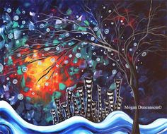 "Original Abstract Cityscape Painting​  TITLE:  ""THE LOST CITY​"" SIZE: 16""X20"" SUPPORT:  Loose Canvas (will need frame, not included) MEDIUM:  Acrylics with metallic gold paint PRICE:  $1,100 SHIPPING:  Included - (International Shipping additional) ARTIST:  Megan Duncanson©  all rights reserved, copyright registered and protected  IMAGES SHOWING FRAMED ARTWORK ARE FOR REPRESENTATIONAL PURPOSES ONLY, FRAME AND MAT NOT INCLUDED WITH PURCHASE OF ARTWORK."
