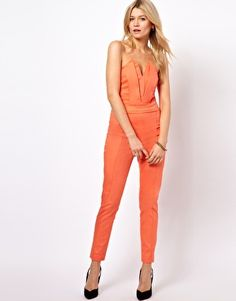 Shop ASOS Jumpsuit With Pleat Bust Origami Detail. With a variety of delivery, payment and return options available, shopping with ASOS is easy and secure. Shop with ASOS today. Fashion Musthaves, Origami, Asos, Fitted Jumpsuit, Night Looks, Well Dressed, Playsuit, Fashion Forward, Style Inspiration