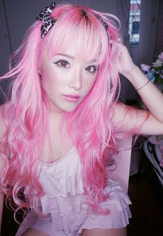 Love the pink hair!!