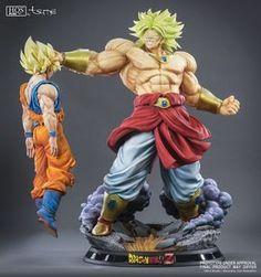 MRC/&Legend Initial Broli Figurine DRAGON BALL GK Statue Resin Black hair New