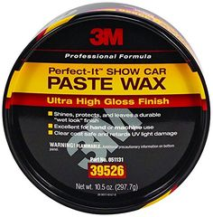 3M 39526 Perfect-It Show Car Paste Wax - 10.5 oz.  The Best Auto Paste Wax! - Easy to apply and remove- no white residue - long lasting protection- Highly Recommend!