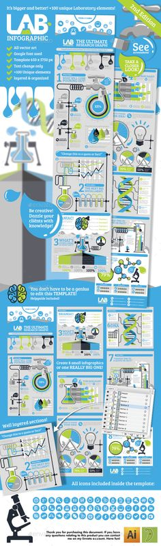 Lab Infographic Template #design Download: http://graphicriver.net/item/lab-infographic-v2/10802780?ref=ksioks