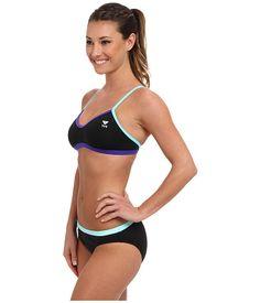 41f065215d44f TYR Durafast Lite™ Solid Brites Crosscutfit Workout Bikini  Black Purrple Blue - Zappos