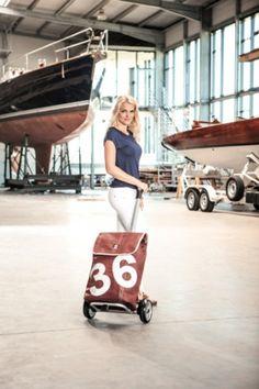 Shopper Unus® der Taschenroller mit Segeltuchtasche für eine mobile und umweltbewußte Gesellschaft #Upcycling #Segeltuch