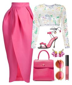 Pink, Black & White by carolineas on Polyvore featuring polyvore, fashion, style, Ashish, Monique Lhuillier, Charlotte Olympia, Dolce&Gabbana, Wildfox, NARS Cosmetics and clothing