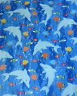 Dolphins~Cuddle Print Cotton Flannel Fabric~by Fabri-Quilt for Sewing