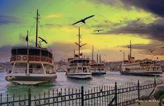 ISTANBUL,KARAKOY'DEN AKŞAM VAKTI by Ali KILIÇ