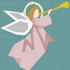 Christmas Angel paper pieced block quiltartdesigns.blogspot.com
