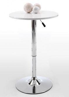 Bartisch Bistrotisch Tisch Weiß Hochglanz 3893. Buy now at https://www.moebel-wohnbar.de/bartisch-bistrotisch-tisch-weiss-hochglanz-3893.html