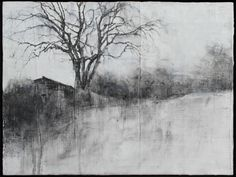 """Laurie Steen, """"Butterleigh, 11-2008, Drwg. 1-10."""" Oil, graphite on gesso primed wood panel."""