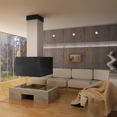 A fireplace Virtu Boulder , can be made in different sizes