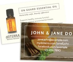 Bare Essentials On Guard doterra business card