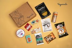🙋This month fulfill your snack cravings with CLEVER TAKES ON CLASSIC FAVORITES. This May the Vegancuts Snack Box is loaded with 11 nutritious, gluten-free & delicious snacks.   In May, when you purchase the Vegancuts Snack Box, you are supporting @iowafarmsanctuary and all of the rescued animals who found loving homes there.🙏🐷  @unisoyjerky @risebrewingco @zollicandy @jooliesdates @rightrice @bevivafoods @cookieplusprotein @outstandingfoods  @thesoulfullproject  @miracletreetea @gomacro