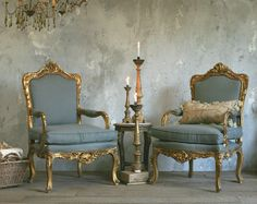 Vintage  French Louis XV Style Gilt Ornate Rococo Armchairs Pair-antique, grey, upholstered, dining,shabby, gold, furniture, pair, arm, chairs, chair