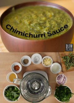 Fresh cilantro, garlic, flat-leaf parsley, and red pepper flakes add flavor to this Chimichurri Sauce recipe! Pair this vibrant green sauce with grilled meats such as chicken and beef or vegetables like zucchini and peppers. It's time to bring out the barbecue, grill some meat, and make our tasty Chimichurri Sauce recipe to go along with your dinner. Share this recipe with your friends and let us know if you enjoyed this tangy sauce!