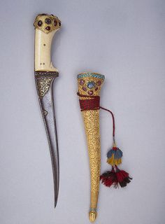 Is this a dagger I see before me...  Dagger with Sheath,  Central Asia. The Hermitage Museum