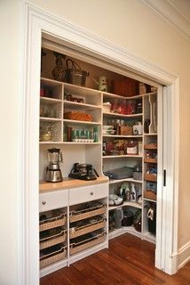 Custom pantry - traditional - kitchen - boston - by Marie Newton, Closets Redefined