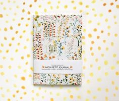 Notebook journal diary flowers pattern floral A6 par SoniaCavallini