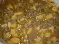 Potato Beef And Bean Crockpot Casserole Recipe. Can't wait to try this but using stew beef instead of hamburger