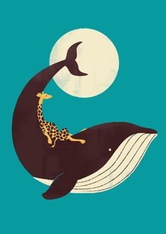 The Giraffe & the Whale Art Print