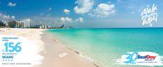 Caminar por #SouthBeach, ver a la gente (y que te vean), sentarte a tomarte algo y estar a unos pasos de la playa para darte un gran bronceado, es algo que tienes que hacer en tu paseo a #Miami. Hoteles desde $156 pesos al mes pagando hasta 18 meses sin intereses. #OjalaEstuvierasAqui