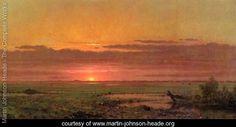 Sunset Marshland  New Jersey - Martin Johnson Heade - www.martin-johnson-heade.org