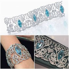 Aquamarine and diamond bracelet by Tiffany & Co.