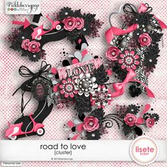 Road to Love cluster By Lisete Scrap