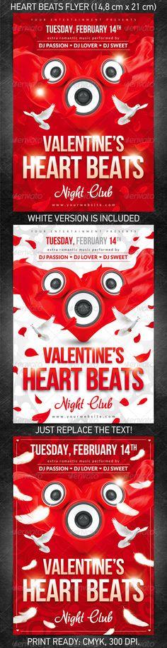 photoshop valentine flyer template