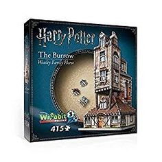Build a scene straight out of your favorite Harry Potter movie when you get this Harry Potter The Burrow Weasley Family Home Jigsaw Puzzle. It features a puzzle of the Weasley's house. Harry Potter Games, Harry Potter Movies, Harry Potter Hogwarts, 3d Jigsaw Puzzles, The Burrow, Me Toque, Bros, Voldemort, Ron Weasley