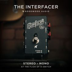 The Interfacer is a complete guitar and amplifier interface for your pedal board. With a footprint no bigger than a Boss sized pedal it wont take up valuable pedal board real estate, yet it still provides flexible routing options leading into and out of your effects system. Finally, it solves the issue of running a system setup for stereo into one amp.