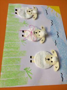 Lamb art Cotton and creativity .- Kuzucuk sanat Pamuk ve yaratıcılık. Lamb art Cotton and creativity . Easy Easter Crafts, Easter Art, Easter Crafts For Kids, Toddler Crafts, Easter Bunny, Preschool Crafts, Fun Crafts, Diy And Crafts, Arts And Crafts