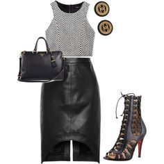 Untitled #1355 by jdawg12 on Polyvore featuring polyvore fashion style Forever 21 Givenchy Christian Louboutin Prada Chanel