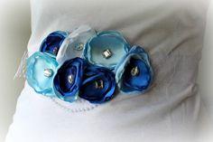 Something Blue Sash for Maternity Bridal by thelaughingprincess, $34.50