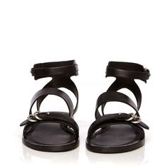 Rag & Bone Lara Sandal ($325) ❤ liked on Polyvore featuring shoes, sandals, sapatos, ankle wrap flat sandals, black shoes, black sandals, ankle tie sandals and ankle strap flat sandals