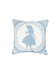 Disney Alice In Wonderland Alice Silhouette Cameo Throw Pillow,