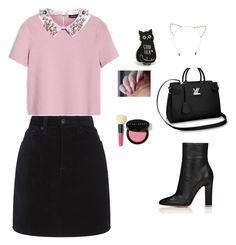 """A cute pink n black outfit"" by ananyaparecha on Polyvore featuring Max&Co., rag & bone, Cara and Bobbi Brown Cosmetics"