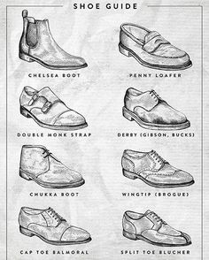 Which one is your dress shoe of choice ? Tag a friend below that needs a reference guide!