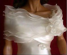 Bridal Shrug Bridal Wrap Bridal Bolero Wedding Shrug by ctroum Wedding Shrug, Bridal Shrug, Wedding Jacket, Bridal Cape, Ivory Wedding, Geek Wedding, Formal Wedding, Wedding Dress Accessories, Wedding Dresses