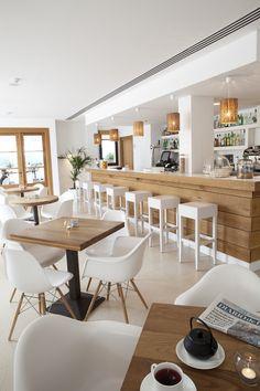 36 Best Ideas For Design Restaurant Interior Coffee Shop Restaurant Design, Deco Restaurant, White Restaurant, Modern Restaurant, Café Design, Design Ideas, Modern Design, Deco Cafe, Cafe Concept
