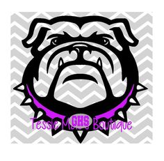 Bulldog SVG DXF EPS Georgia Bulldog Instant by TessieMaesDesigns