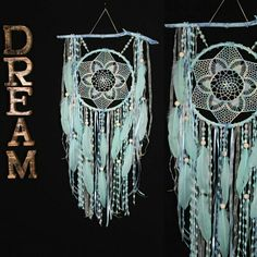 Dreamcatcher Mint Dream Catcher Dreamcatcher New Dream сatcher gift idea dreamcatchers boho dreamcatcher wall handmade idea Christmas gift This amulet like Dreamcatcher - is not just a decoration of the interior. It is a powerful amulet, which is endowed Doily Dream Catchers, Dream Catcher Craft, Dream Catcher White, Dream Catcher Boho, Decoupage, Floral Wall, Wooden Beads, Boho Decor, Valentine Gifts