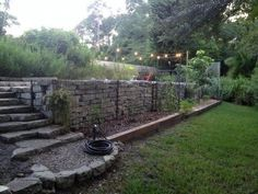 backyard ideas for gabion walls, concrete masonry, gardening, outdoor living