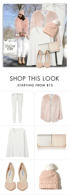 """""""It's Cold Outside"""" by breathing-style ❤ liked on Polyvore featuring rag & bone, Sans Souci, Uniqlo, River Island, Steve Madden and Hollister Co."""